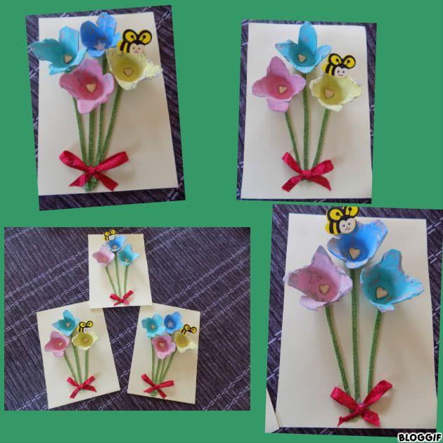 Activites boite a oeufs for Bouquet de fleurs dans une boite